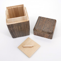 Japanese square solid wood tea box, HINOKI, square