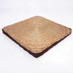 coussin carré Zabuton en paille de riz 45 × 45 x 4cm