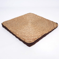 square straw cushion Zabuton 45 × 45 x 4 cm