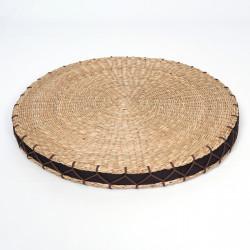 coussin rond Zabuton en paille de riz
