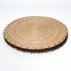 round straw cushion Zabuton Ø46 x 4 cm