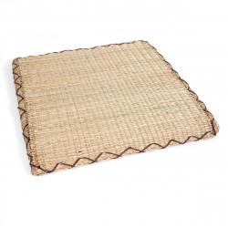 coussin carré Zabuton en paille de riz 45 x 45 x H2,5cm