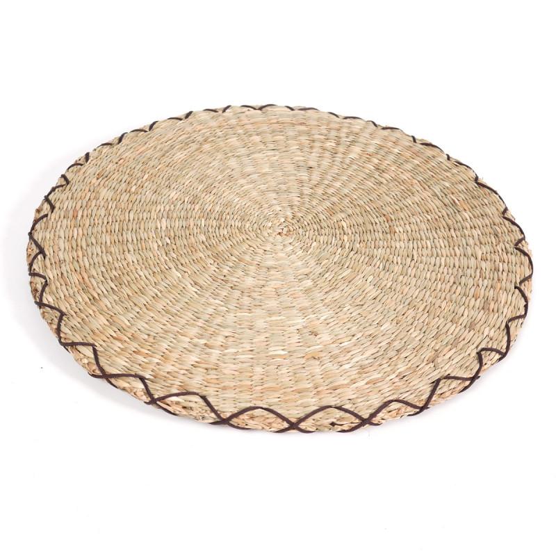 round straw cushion Zabuton Ø44 x 2,5 cm