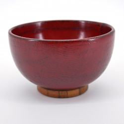 red wooden bowl, SÔNUNO NEGORO, red