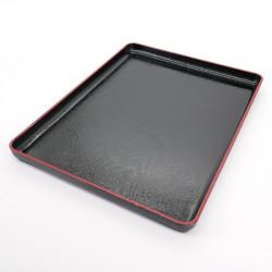 japanese black tray with adhesive coating FUJI NAGATE MOKUME