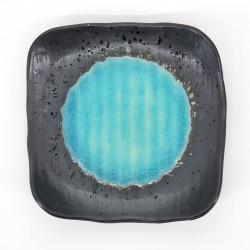 japanische quadratische Platte, SHINKAI, blau