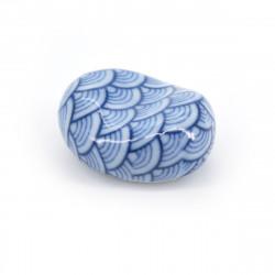 repose baguettes japonais bleu motifs vagues SEIGAIHA AZUKI