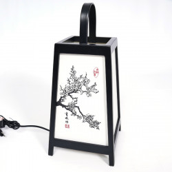 Japanese black table lamp ADIDA -cherry blossoms