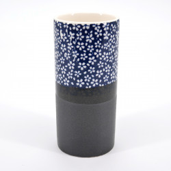 japanese blue chopstick stand in ceramic blue patterns SAKURA