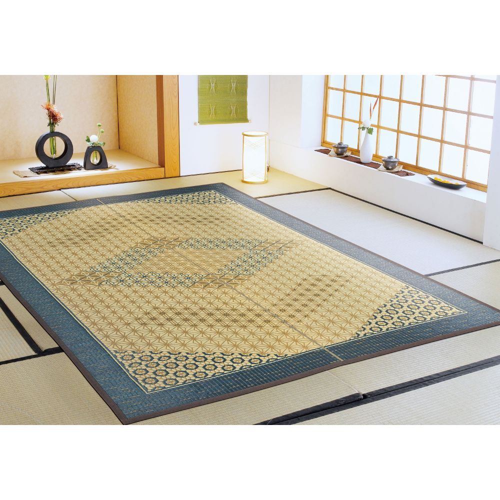 japanese straw mat carpet asanoha patterns KUMIKO