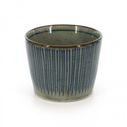 Japanese traditional soba cup with blue patterns in ceramic TOKUSA