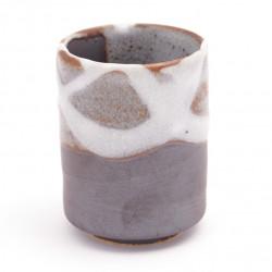 tasse japonaise à thé en céramique marron blanc SHINSETSU
