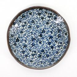 assiette bleue Ø16,2cm motifs KARAKUSA