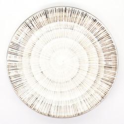 assiette blanche ronde japonaise Ø23,7cm KOHIKI SENDAN