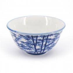 japanese blue bamboo patterns teacup TAKEBAYASHI ATSUSHI SENCHA