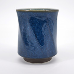 japanese blue octogon teacup Ø8,5cm NAMAKO HAKKAKU