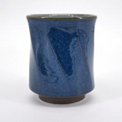 tazza giapponese ritorta blu Ø8,5cm NAMAKO HAKKAKU