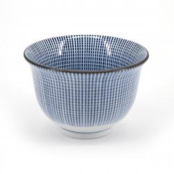 tasse japonaise blanche lignes bleues SENDAN TOKUSA SENCHA
