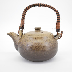 japanese brown terracotta teapot 0,80L BIZEN KAZE