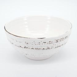grand bol blanc japonais 1,05L de contenance KOHIKI SAME
