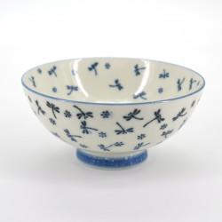 bol à riz japonais en céramique, KOYUKI TOMBO, libellule