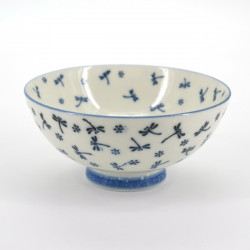 Japanese ceramic rice bowl, KOYUKI TOMBO, dragonfly