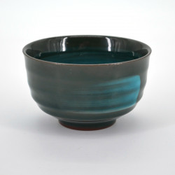 japanese black turquois brush teacup EMERALD