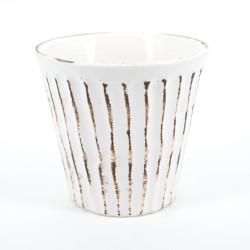 tasse blanche japonaise H9,2xØ8,6cm KOHIKI SHINOGI