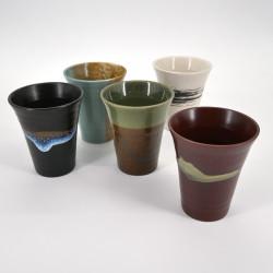 set de 5 mazagrans japonais en céramique MEISUE NO SATO