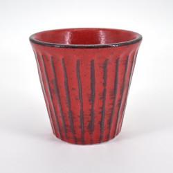 verre rouge japonais H9,2xØ8,6cm NEGORO SHINOGI
