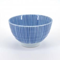 japanese white blue lines teacup Ø9xH5,6cm SENGAKU TOKUSA SENCHA