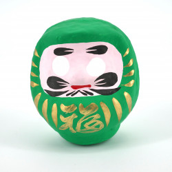 japanese okiagari doll DARUMA GREEN