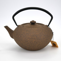 théière ovale jaune en fonte prestige japonaise chûshin kôbô 0,7L HIRATSUBO