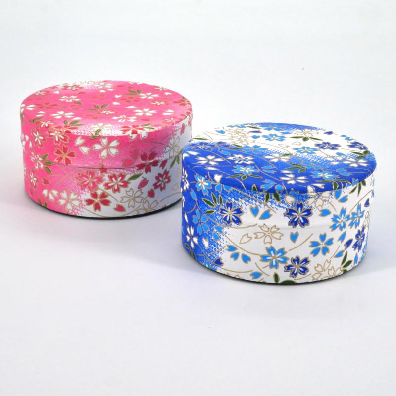 Japanese tea box washi paper flat 40g pink blue choice