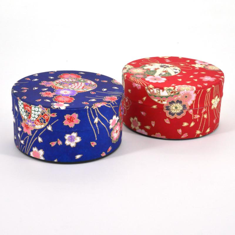 Japanese tea box washi paper flat 40g red blue choice