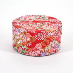 boîte à thé japonaise en papier washi plate 40g rouge