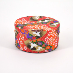 Japanese tea box washi paper flat 40g orange TSURU