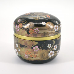 Black Japanese teabox in metal SUZUKO KIKUSUI