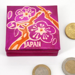 Japanese style pink genuine leather coin purse SAKURA