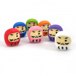 Japanese daruma eraser color choice brand IWAKO