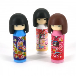 Japanese kokeshi eraser set 1 color choice brand IWAKO
