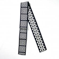 ceinture obi japonaise noire ou bleue carré chaîne BANTENOBI