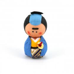 poupée japonaise okiagari, SAMURAI, samourai