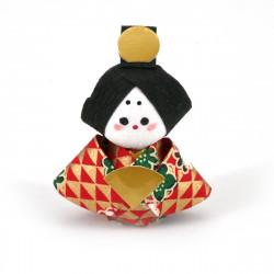 bambola giapponese okiagari protettore, OHINASAMA, donna