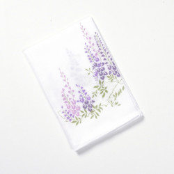 Japanese handkerchief, FUJI NO HANA, Purple glycine