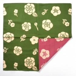 furoshiki japonais, BARA KUSA, rose et vert