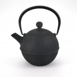 théière ronde en fonte du Japon, OIHARU TEMARI 0,5lt, noir