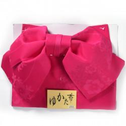Japanese traditional yellow polyester obi sash