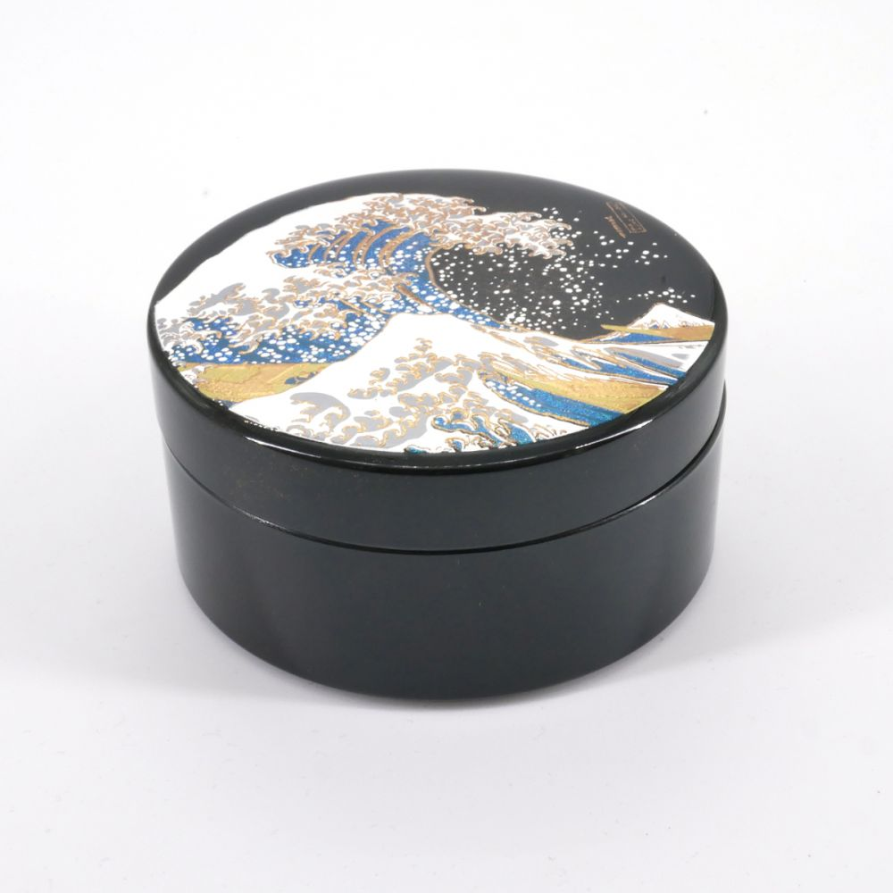 black japanese jewelry box, NAMI, wave