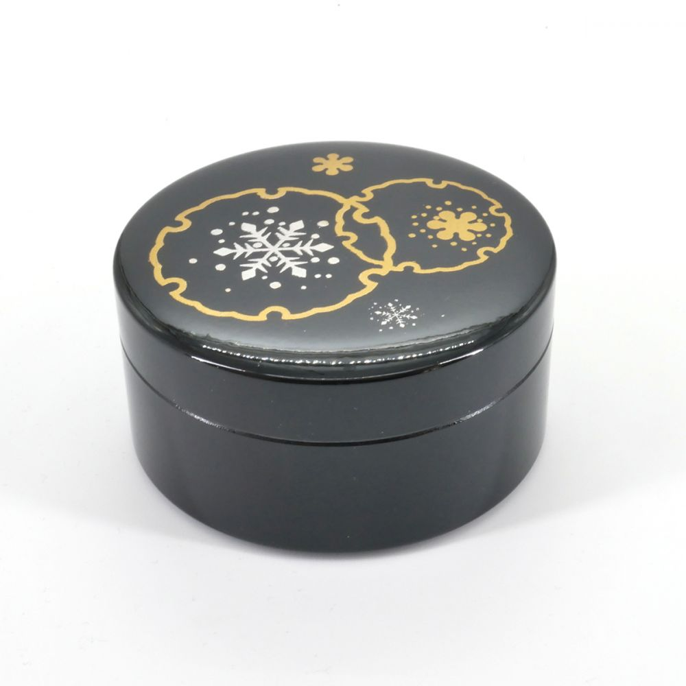 black japanese jewelry box, YUKIWA, Snowflake